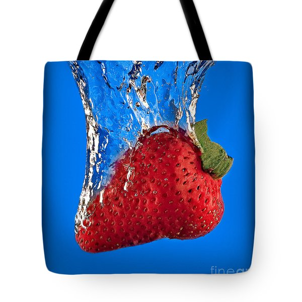 Strawberry Slam Dunk Tote Bag by Susan Candelario
