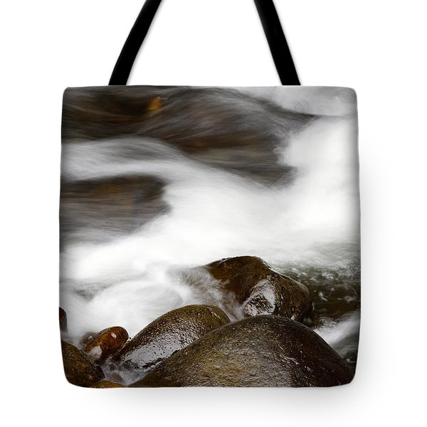 Stream Flowing  Tote Bag by Les Cunliffe