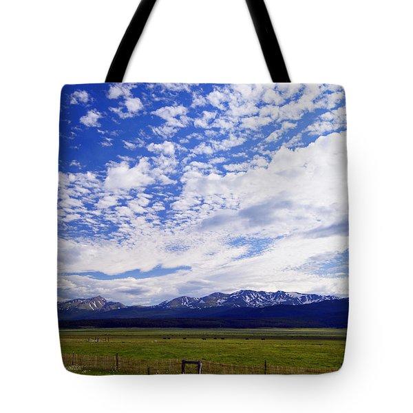 Streaming Sky Tote Bag by Jeremy Rhoades