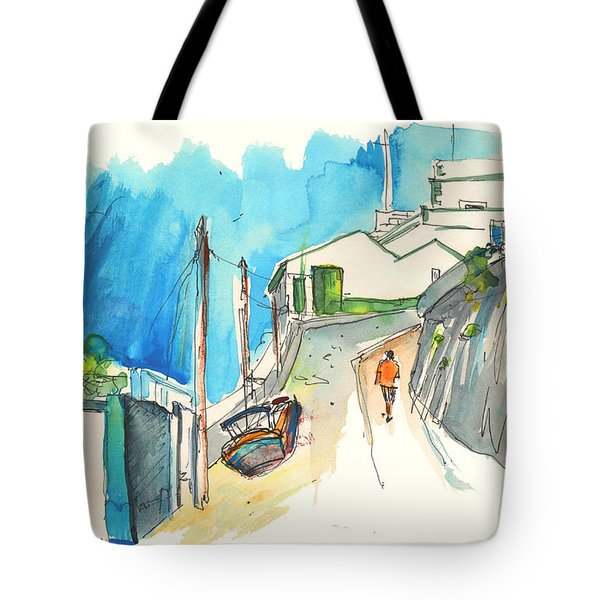 Street In Ericeira In Portugal Tote Bag by Miki De Goodaboom