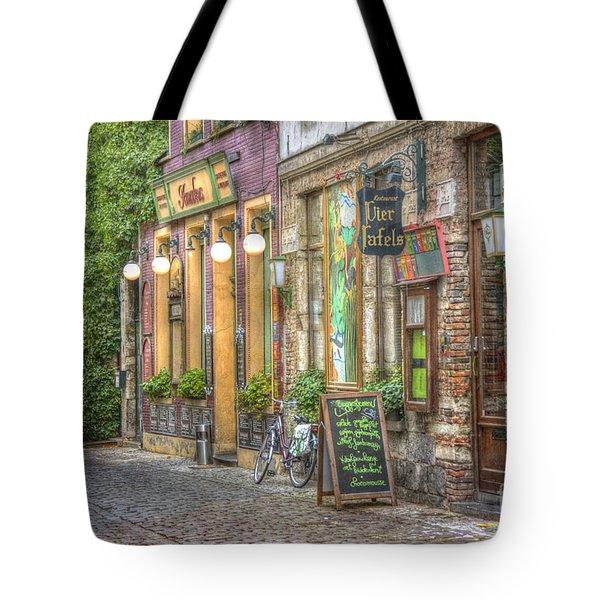 Street In Ghent Tote Bag by Juli Scalzi
