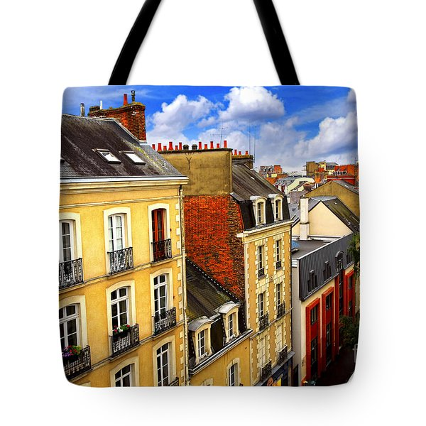 Street In Rennes Tote Bag by Elena Elisseeva