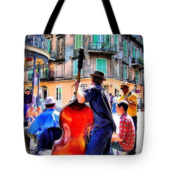 Street Jammin Tote Bag by Robert McCubbin