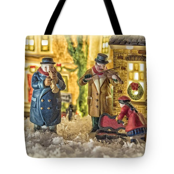 Street Musicians Tote Bag by Caitlyn  Grasso