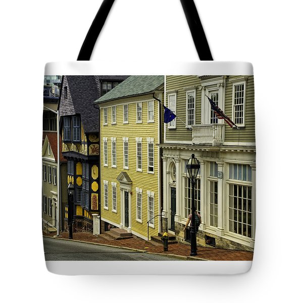 Street Of Many Colors In Providence Ri Tote Bag by Nancy  de Flon