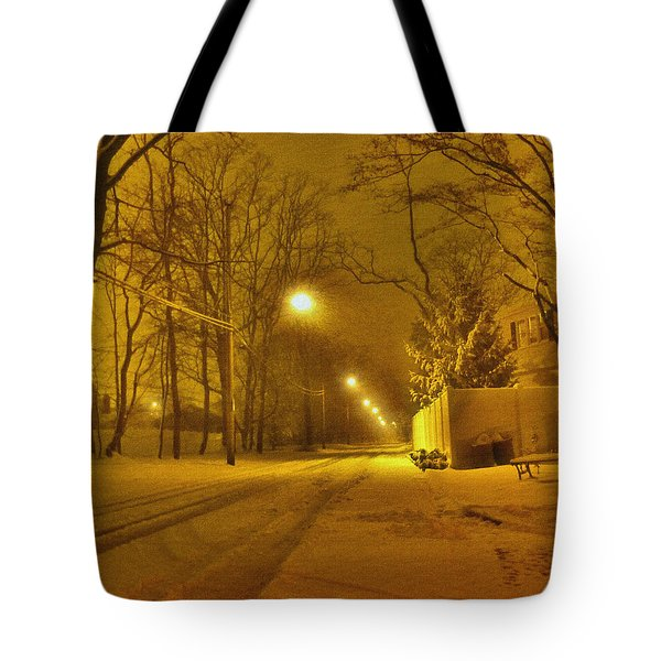 Streetlights Tote Bag by Mikki Cucuzzo
