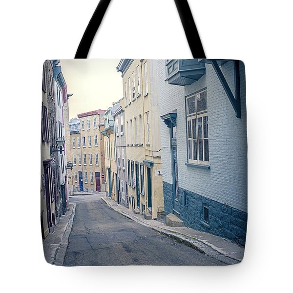 Streets Of Old Quebec City Tote Bag by Edward Fielding
