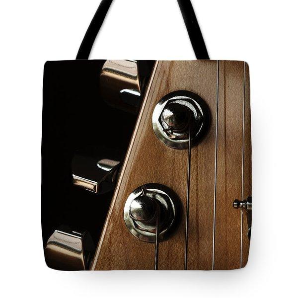 Strings Wrapped Tote Bag by Karol Livote