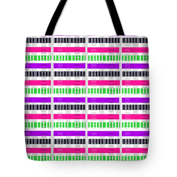 Stripe And Check Tote Bag by Louisa Hereford
