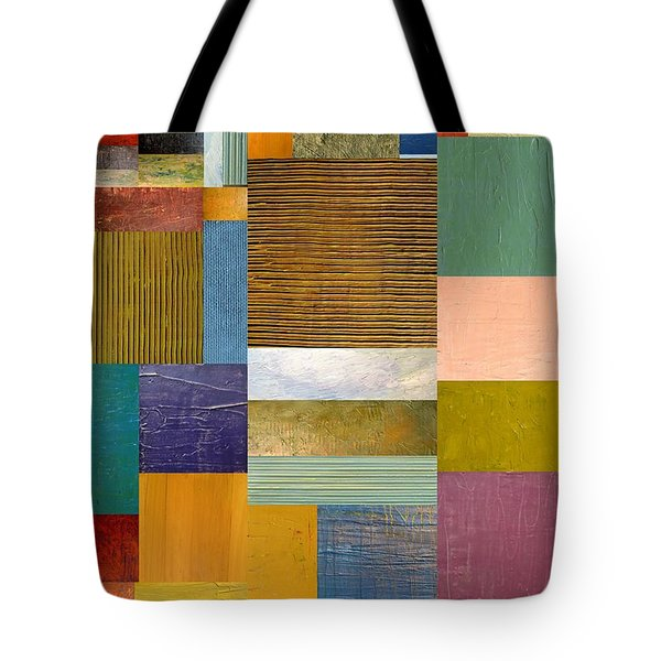 Strips and Pieces lV Tote Bag by Michelle Calkins