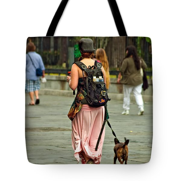Strolling In Jackson Square Tote Bag by Steve Harrington