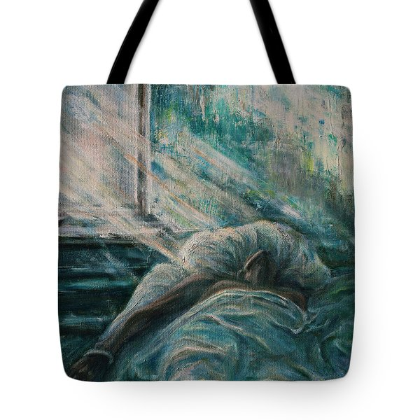 Struggling... Tote Bag by Xueling Zou