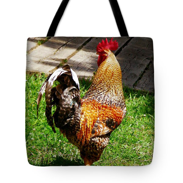 Strutting Rooster Tote Bag by Susan Savad