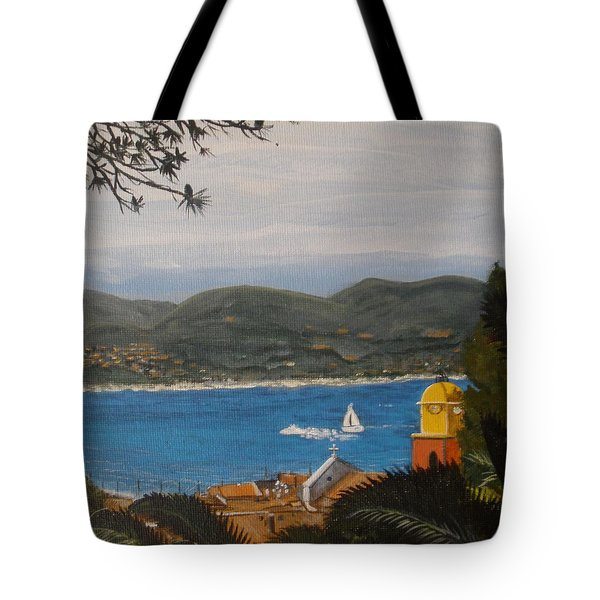 St.tropez France Tote Bag by Betty-Anne McDonald