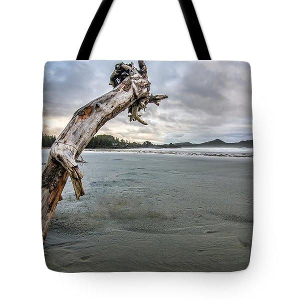 Stuck Log Tote Bag by James Wheeler