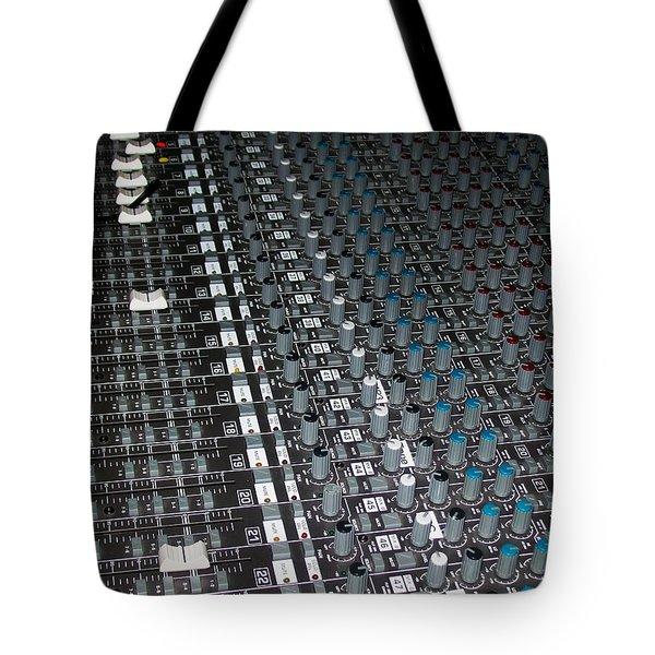 Studio Sound Mixing Board Tote Bag by Mountain Dreams