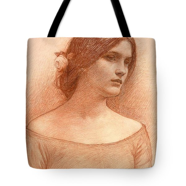 Study For The Lady Clare Tote Bag by John William Waterhouse