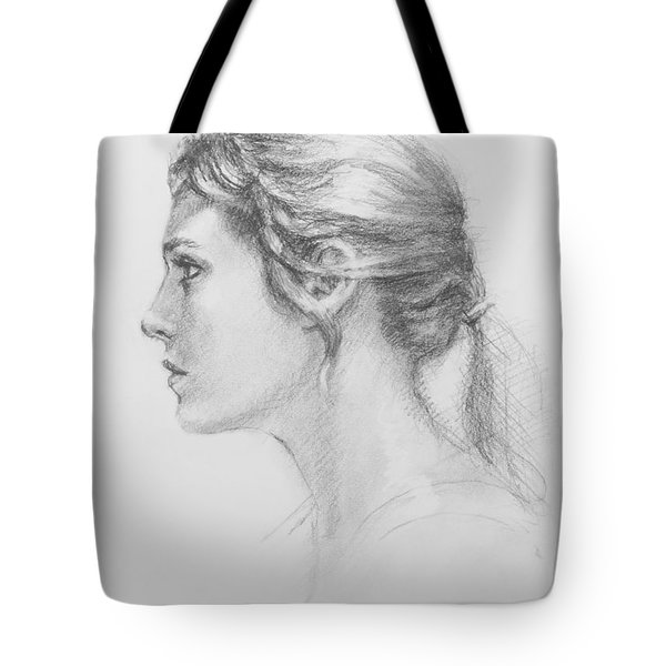 Study In Profile Tote Bag by Sarah Parks