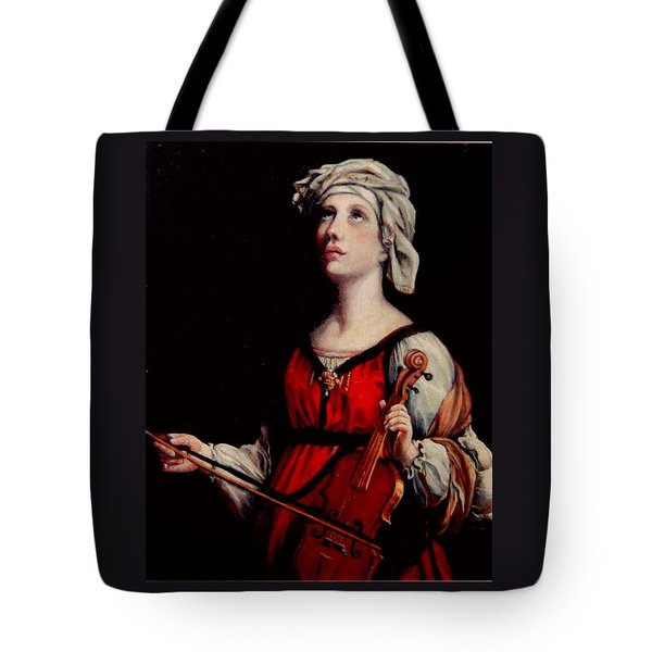 Study Of St. Cecelia Tote Bag by Donna Tucker