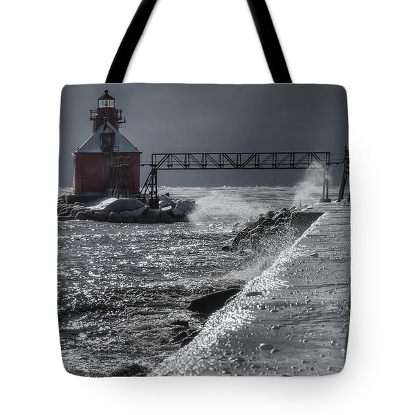 Sturgeon Bay After the Storm Tote Bag by Joan Carroll