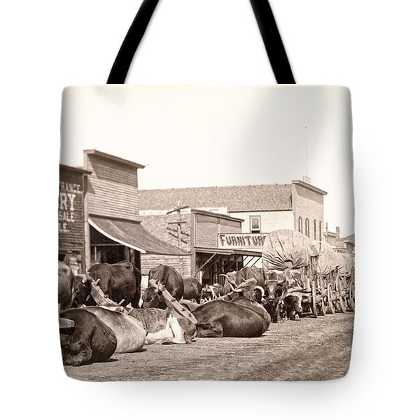 STURGIS SOUTH DAKOTA c. 1890 Tote Bag by Daniel Hagerman