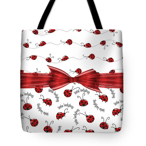 Stylish Ladybugs Tote Bag by Debra  Miller