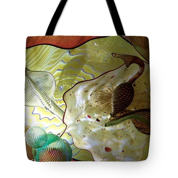 Subtle Colors In Glass Tote Bag by Eunice Miller