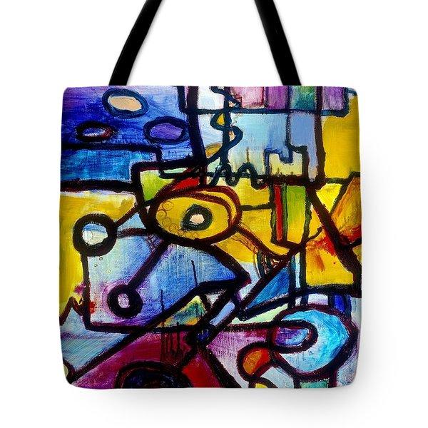 Suburbias Daily Beat Tote Bag by Regina Valluzzi