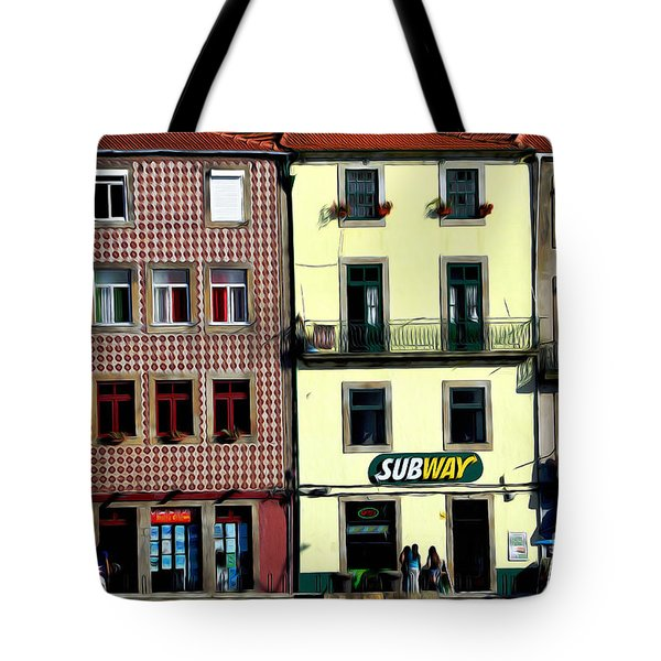Subway - Porto Tote Bag by Mary Machare