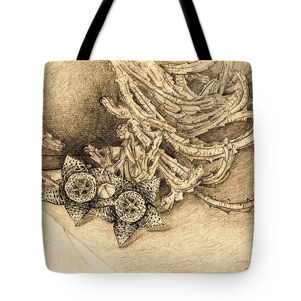Succulent Flowers Tote Bag by Judith Chantler