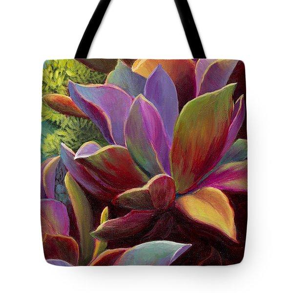 Succulent Jewels Tote Bag by Sandi Whetzel