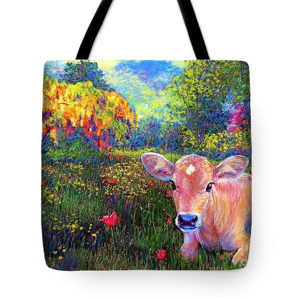 Such A Contented Cow Tote Bag by Jane Small