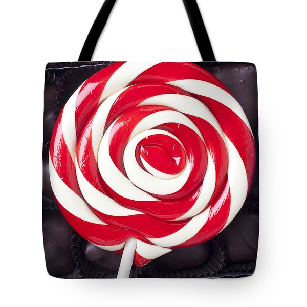 Sucker On Box Of Chocolates  Tote Bag by Garry Gay