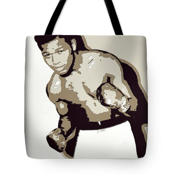 Sugar Ray Robinson Tote Bag by Florian Rodarte
