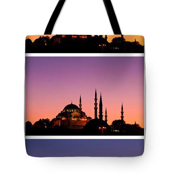 Suleymaniye Sundown Triptych 03 Tote Bag by Rick Piper Photography
