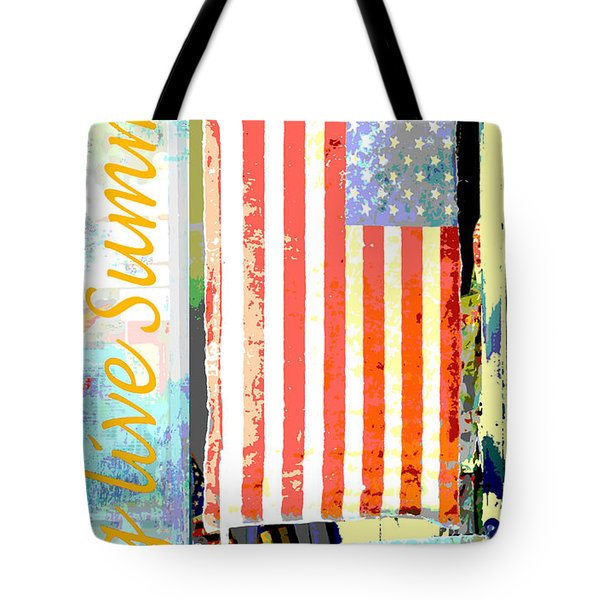 Summer And Beach Americana Tote Bag by Adspice Studios