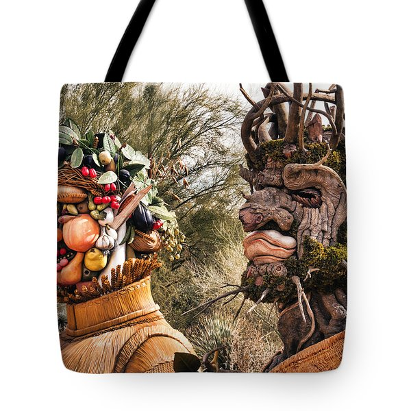 Summer And Winter Tote Bag by Diane Wood