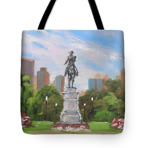 Summer at the Gardens Tote Bag by Laura Lee Zanghetti