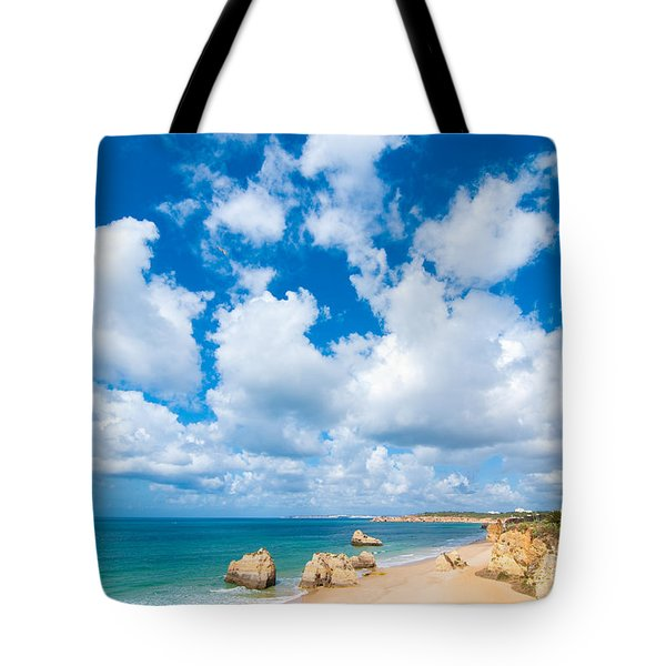 Summer Beach Algarve Portugal Tote Bag by Amanda Elwell