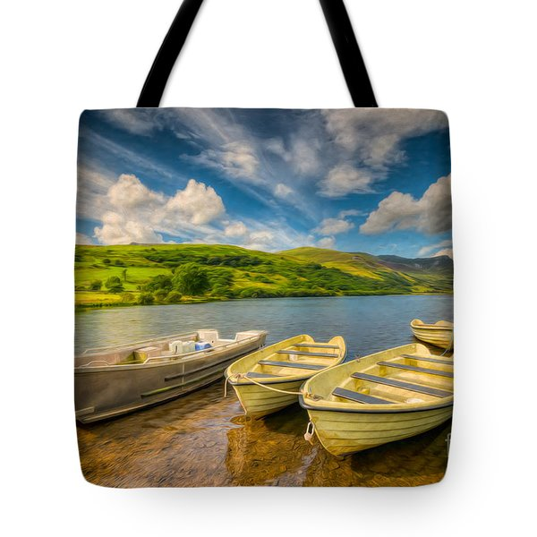 Summer Boating Tote Bag by Adrian Evans