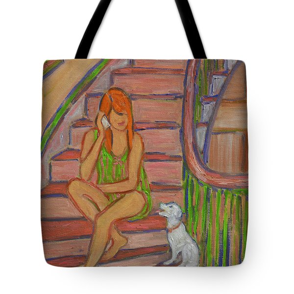 Summer Chat Tote Bag by Xueling Zou