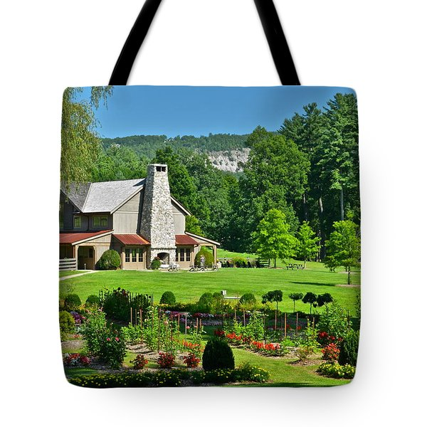 Summer Cottage Tote Bag by Frozen in Time Fine Art Photography