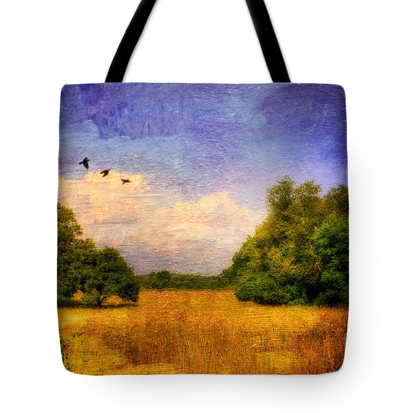 Summer Country Landscape Tote Bag by Lois Bryan