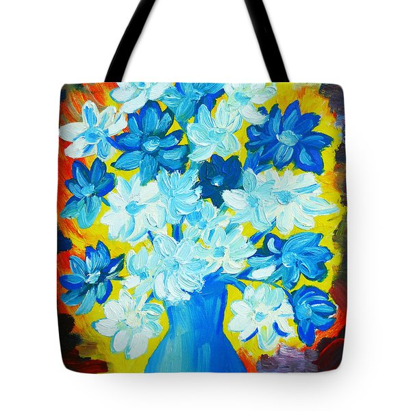 Summer Daisies Tote Bag by Ramona Matei