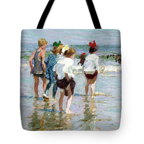 Summer Day At Brighton Beach Tote Bag by Edward Potthast