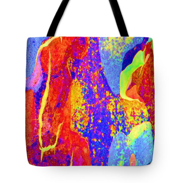 Summer Eucalypt Abstract 27 Tote Bag by Margaret Saheed