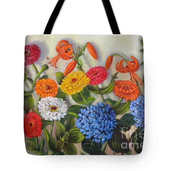 Summer Flowers Tote Bag by Randol Burns
