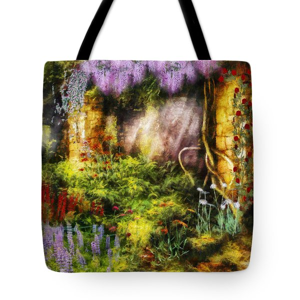 Summer - I found the lost temple  Tote Bag by Mike Savad