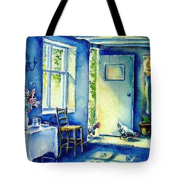 Summer Morning Visitors  Tote Bag by Trudi Doyle
