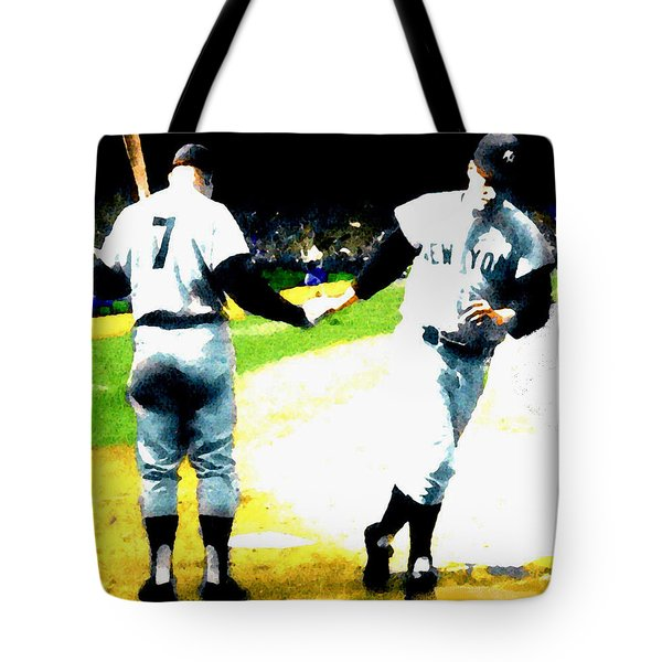 Summer Of The Gods  Iv 1961 Mickey Mantle Tote Bag by Iconic Images Art Gallery David Pucciarelli